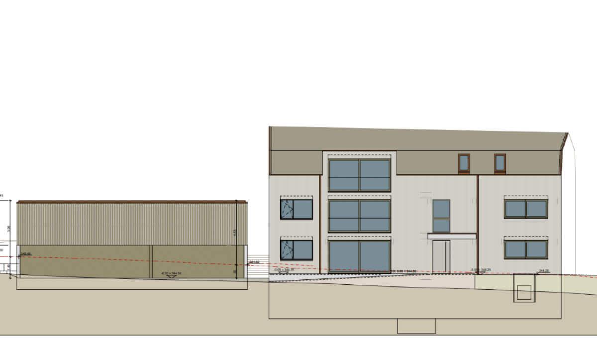 Projektvoranzeige Eiken 3.5 Zimmer Wohnung Erdgeschoss