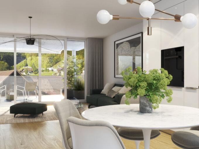 4 ½ – Maisonette- Wohnung in Eiken