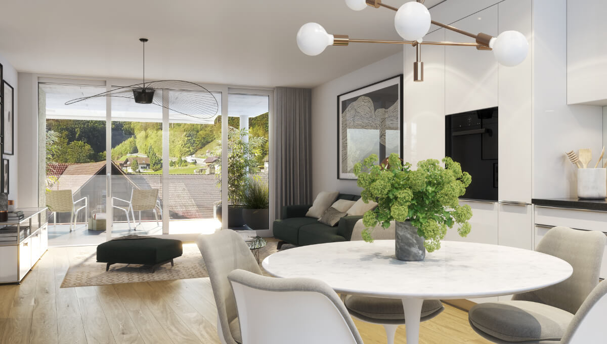 4.5 Maisonette- Wohnung in Eiken